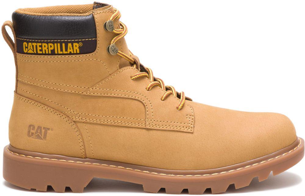 CAT-CATERPILLAR-Bridgeport-en-Cuir-de-Travail-Chaussures-Bottes-Hommes-Nouveau miniature 8