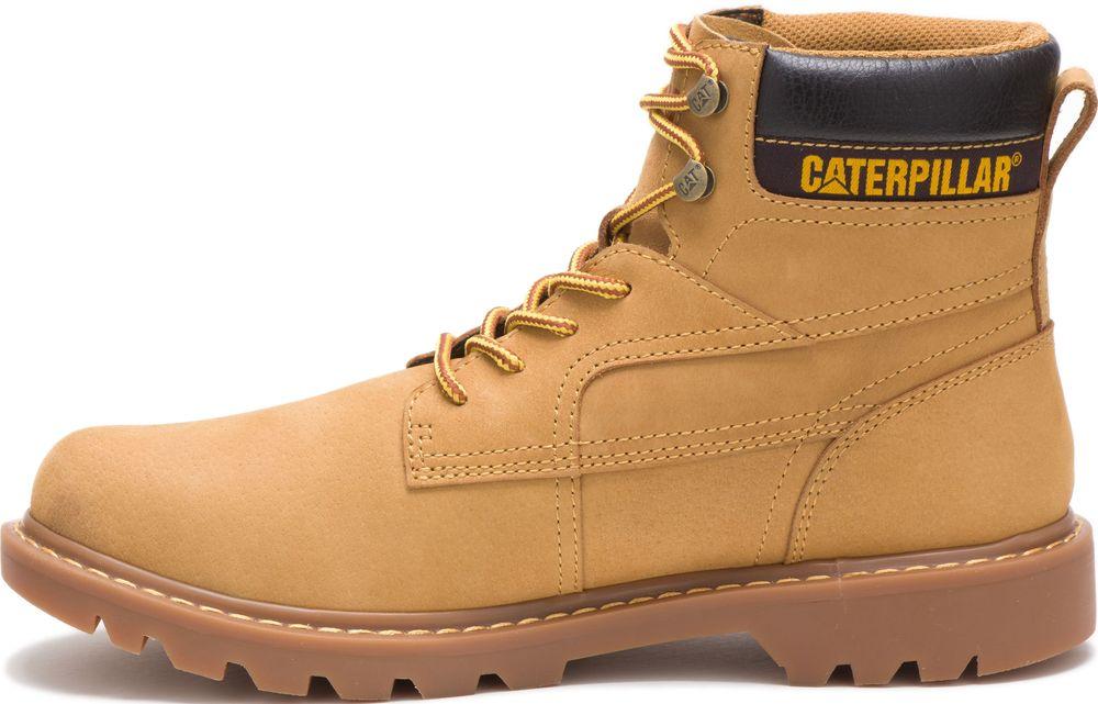 CAT-CATERPILLAR-Bridgeport-en-Cuir-de-Travail-Chaussures-Bottes-Hommes-Nouveau miniature 9