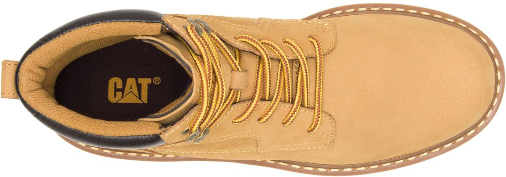 CAT-CATERPILLAR-Bridgeport-en-Cuir-de-Travail-Chaussures-Bottes-Hommes-Nouveau miniature 10