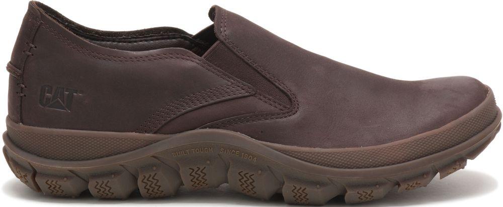 miniature 8 - CATERPILLAR Fused de Cuir Sneakers de Marché Baskets à Enfiler Chaussures Hommes