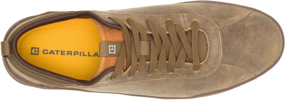 miniature 5 - CAT CATERPILLAR Hex en Cuir Sneakers Baskets Chaussures pour Hommes Nouveau