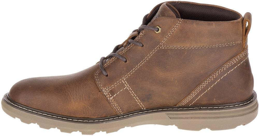 CAT-CATERPILLAR-Trey-en-Cuir-Sneakers-Chaussures-Bottes-pour-Hommes-Nouveau miniature 3
