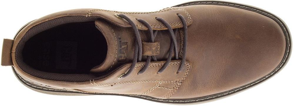 CAT-CATERPILLAR-Trey-en-Cuir-Sneakers-Chaussures-Bottes-pour-Hommes-Nouveau miniature 5