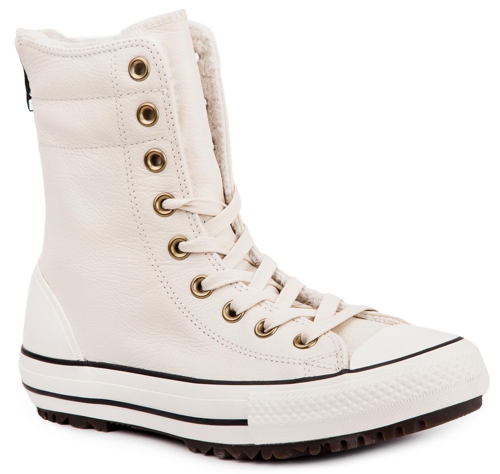 converse chuck taylor all star hi rise boot damen leder sneaker winterstiefel ebay. Black Bedroom Furniture Sets. Home Design Ideas