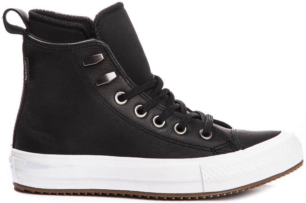 miniature 3 - CONVERSE-Chuck-Taylor-WP-Leather-Impermeable-Sneakers-Bottes-pour-Femmes-Nouveau