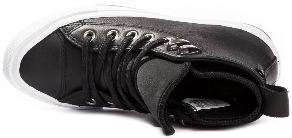 miniature 5 - CONVERSE-Chuck-Taylor-WP-Leather-Impermeable-Sneakers-Bottes-pour-Femmes-Nouveau