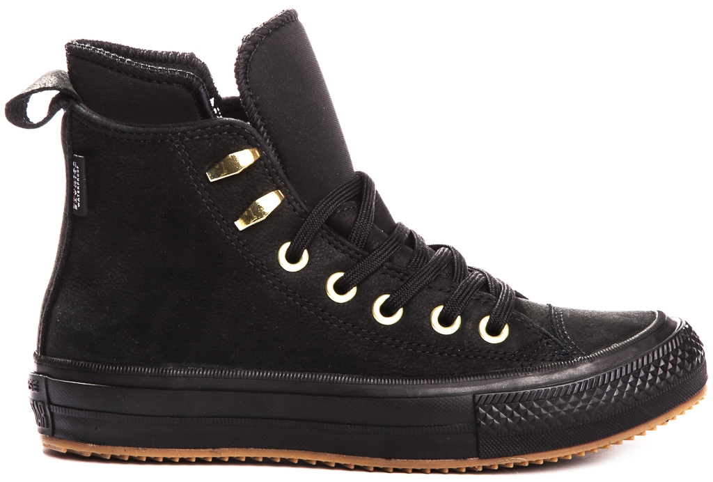 miniature 8 - CONVERSE-Chuck-Taylor-WP-Leather-Impermeable-Sneakers-Bottes-pour-Femmes-Nouveau