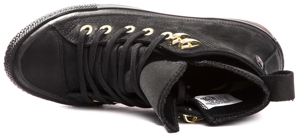 miniature 10 - CONVERSE-Chuck-Taylor-WP-Leather-Impermeable-Sneakers-Bottes-pour-Femmes-Nouveau