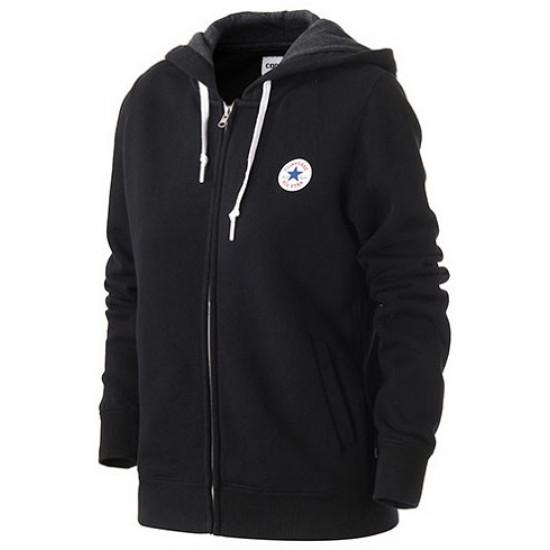 Bluza damska CONVERSE Core Full Zip Hoodie 10004541-A01