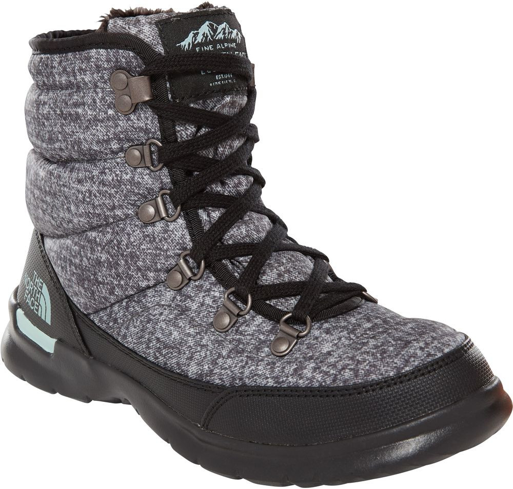 Buty damskie THE NORTH FACE ThermoBall Lace II T92T5L5QP Burnished Houndstooth PrintBlue Haze