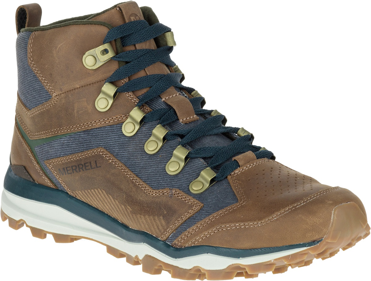 MERRELL All Out Crusher Mid Mens Hiking Walking Shoes Leather ...