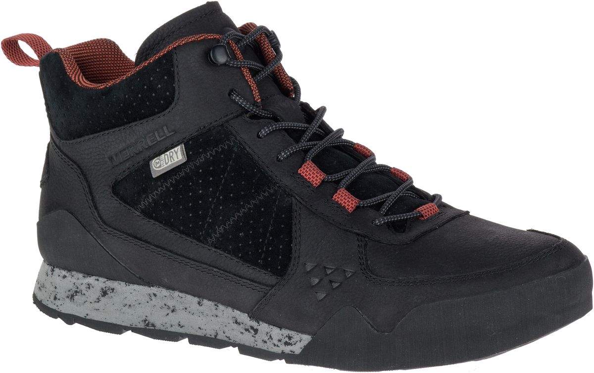 Merrell Burnt Rock Mid Chaussures Hommes de Marche Randonnée en Cuir Sneakers ONQnr4YrY