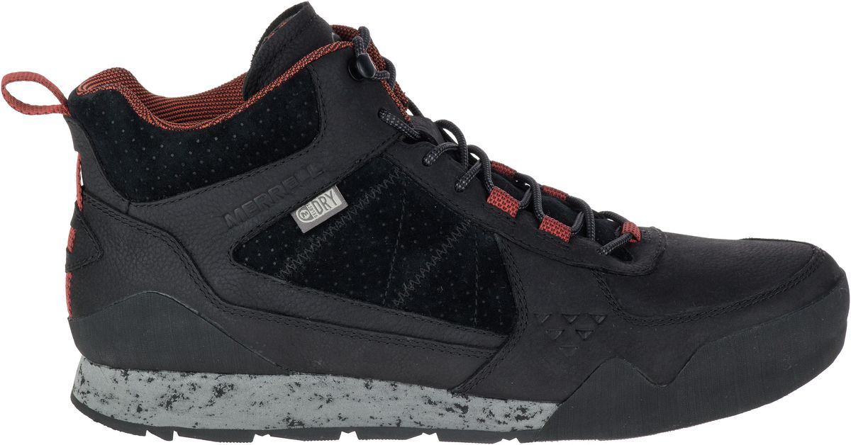57e84bd2f1149 MERRELL Burnt Rock Mid Waterproof Sneakers Athletic Shoes Boots Mens ...