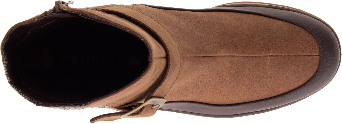 Merrell Eventyr Strap Chaussures Femmes baskets Bottes Bottes Bottes d'Hiver en Cuir Bottines 62680f