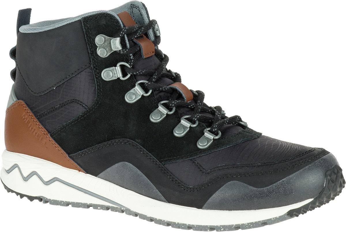 Merrell Stowe Mid Damen Turnschuhe Leder Sneakers Schuhe Freizeit Turnschuhe Damen Trekkingschuhe 659d6b