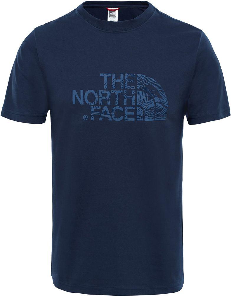 THE-NORTH-FACE-TNF-Woodcut-Dome-Coton-T-Shirt-Manches-Courtes-pour-Hommes